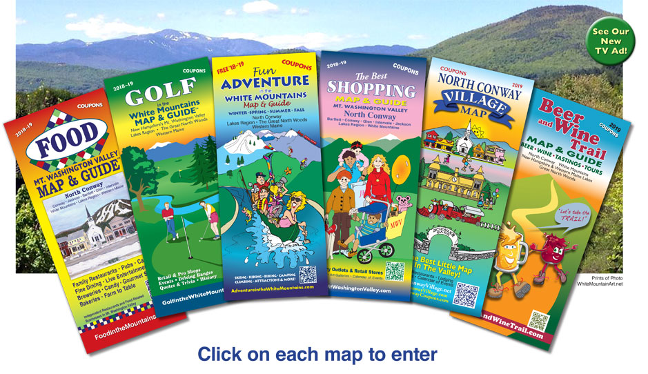 North Conway  NH Shopping Map & Guide